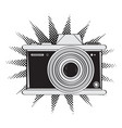 isolated comic camera icon vector image