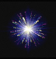 isolated fireworks on a transparent background vector image