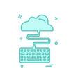 keyboard icon design vector image
