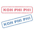 koh phi phi textile stamps vector image vector image