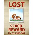 Lost Dog vector image