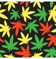 Marihuana ganja weed seamless pattern rasta vector image vector image