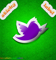 messages retweet icon sign Symbol chic colored vector image vector image