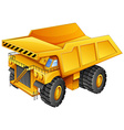 Mining truck vector image vector image