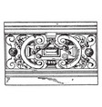 modern french parapet roof surface vintage vector image vector image