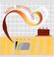 mothers day background with paper flowers vector image vector image