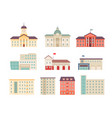 municipal buildings government houses city vector image