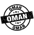 oman black round grunge stamp vector image vector image
