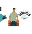 Owners - small business graphics - sandwich shop