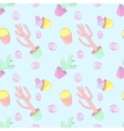 Pattern colored cacti vector image