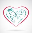 Pet Heart vector image vector image