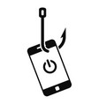phishing smartphone icon simple style vector image vector image