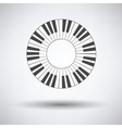 Piano circle keyboard icon vector image vector image