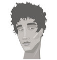 portrait a young man with a serious face vector image vector image