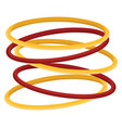 red and yellow bangles on white background