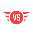 red versus sign with wings vector image