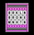 retro on theme brooklyn vector image vector image