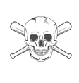 retro skull label vector image vector image
