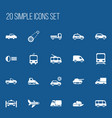 set of 20 editable shipment icons includes vector image