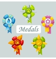 Set of cartoon medals for pet vector image vector image