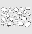 set of comic speech bubbles on gray background vector image vector image