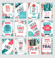 set of modern sale banners template design with vector image vector image
