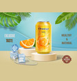soft drink advertisement with orange fruits