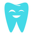 sparkling tooth icon flat style vector image
