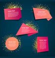 style text templates origami vector image vector image