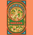 summer banner in art nouveau style vector image vector image