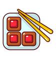 sushi icon cartoon style vector image vector image