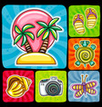 swirl vacation icon or sticker set tropical vector image vector image