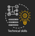 technical skills chalk concept icon vector image vector image