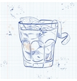 The Americano Cocktail on a notebook page vector image vector image