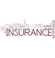 the essential guide to insurance text background vector image vector image