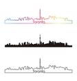 Toronto skyline linear style with rainbow vector image vector image