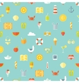 Travel vacation flat design seamless pattern vector image vector image