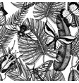 tropical insects seamless pattern backdrop with vector image