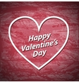 Valentines Day red grunge background with white vector image vector image