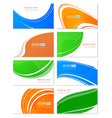 Various business card wave design set elements vector image vector image
