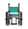 wheelchair in the hospital flat material design vector image vector image