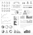 Set of doodles business infographic vector image