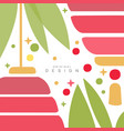 card with traditional asian seamless pattern vector image