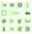 14 player icons vector image vector image