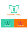 abstract butterfly beauty logo vector image vector image