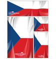 abstract czech republic flag background vector image
