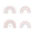 abstract rainbows hand drawn set color vector image