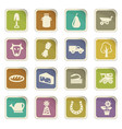 agricultural icons set vector image vector image