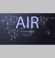 airplanes flying destinations plane flight vector image