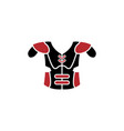 american football armor icon design template vector image
